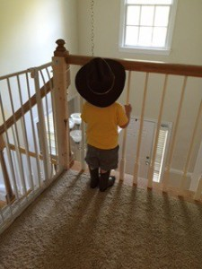 cowboy boats and dressing a toddler