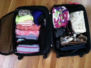 packing suitcases