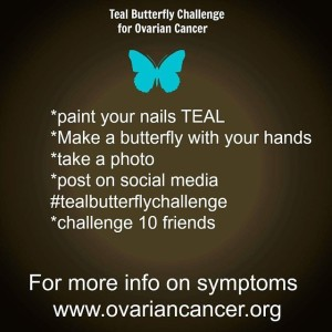 teal butterfly challenge